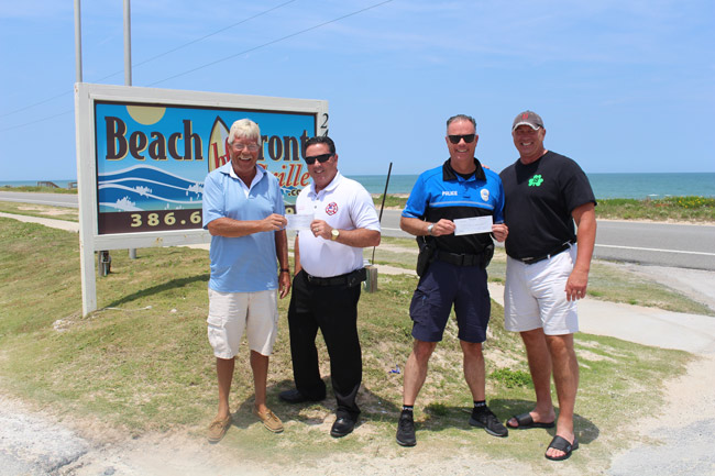Beachfront grille donations