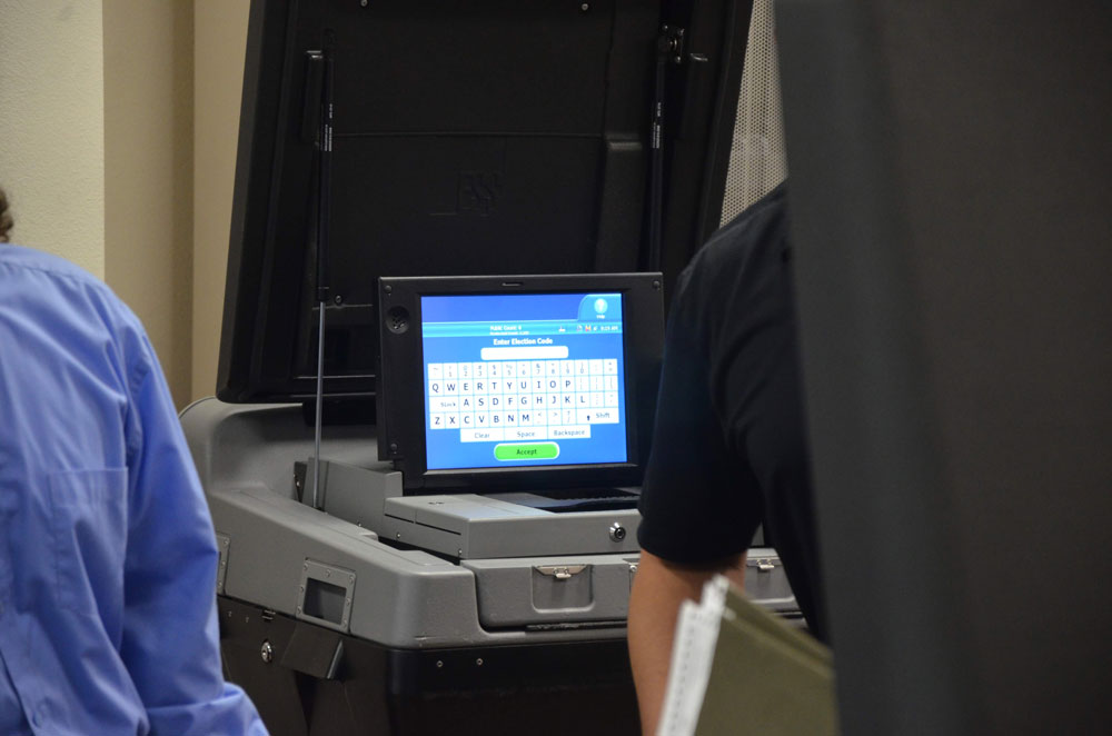 A candidate dropping out of the race for Palm Coast mayor after qualifying ended created a bit of a problem for elections officials, who had already sent their ballots to be printed. (© FlaglerLive)