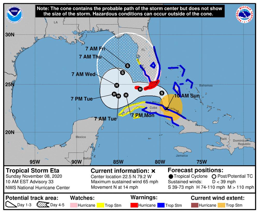 eta tropical storm