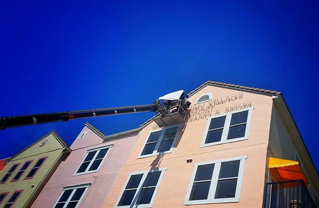 European Village last week finally got its name on its facades facing out, after years of working through the Palm Coast bureaucracy to secure the allowance.  Thank you to @EuropeanVillage for letting us use the image.