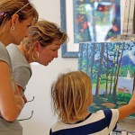 The Flagler County Art League was one of five stops in Sunday's Arts on Wheels event, spearheading Arts in Education Week. (Flagler County Art League)
