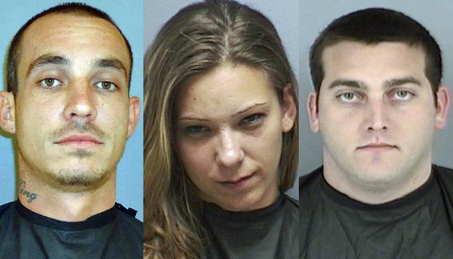 From left, Harley King, Kristin Howard, and Salvatore Kilday. (FCSO)