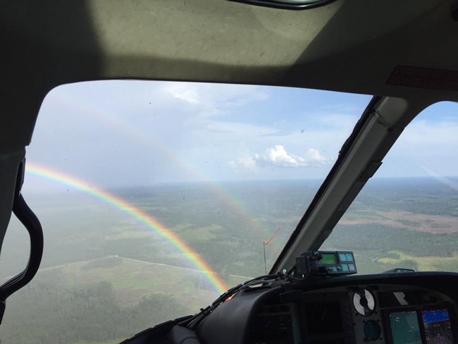 The view from FireFlight: Flagler County Fire Rescue's Roy Long, a flight medic, posted the image on his Facebook page Saturday as the emergency helicopter was flying over Flagler.