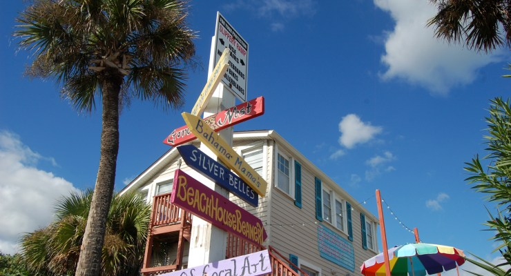 In Flagler Beach, small businesses show the way. (© FlaglerLive) beachhouse beanery bahama mama silver belles