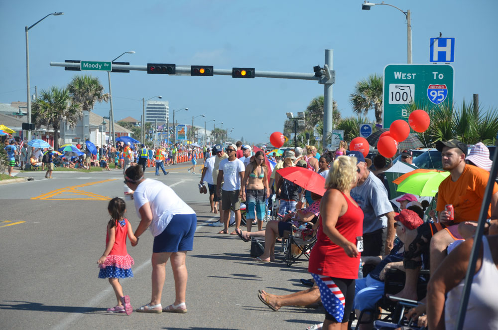 The Flagler Beach July 4 parade is more ingrained in the city's traditions than its fireworks show. (© FlaglerLive)