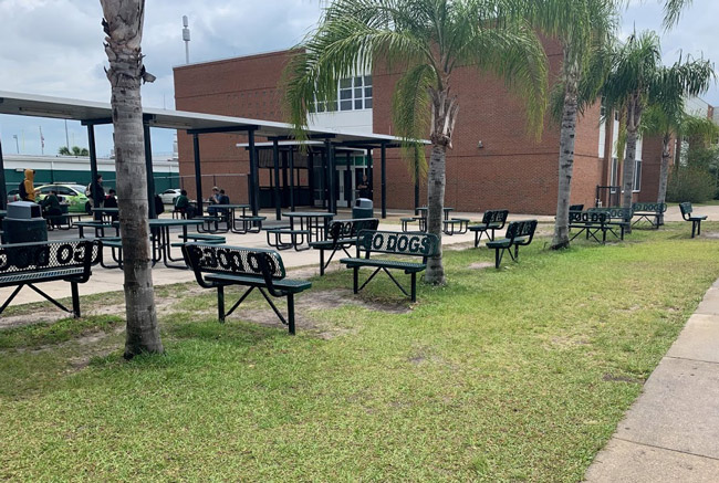 The incidents involving bigoted threats against a teacher seized the Flagler Palm Coast High School community and beyond in mid-December. (© FlaglerLive)