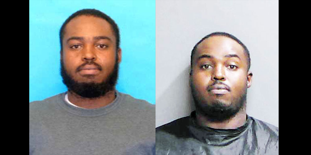 Gaines Smith in his state Department of Corrections photo, left, from a 2019 conviction, and in his booking today at the Flagler County jail.