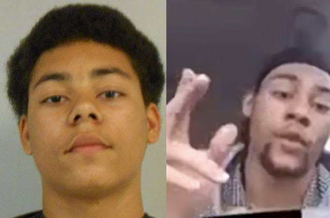 Marion Leo Gavins Jr. has been in and out of the criminal justice system since his first arrest when he was 13, left. The picture to the right is a still from a self-made video as he drove to turn himself in Sunday, on a first-degree murder charge.