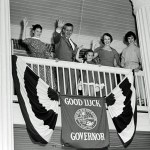 Gov. LeRoy Collins with his family at the Governor's Mansion in Tallahassee, 1957. (Florida Memory)