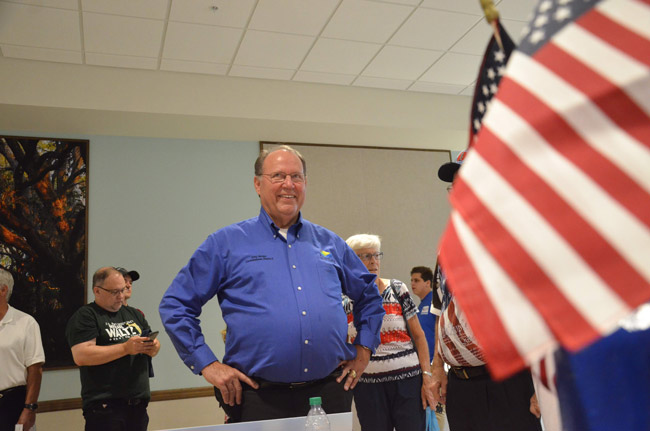 Greg Hansen has won the Republican primary for his County Commission seat, defeating Abby Romaine. (© FlaglerLive)