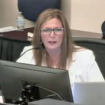 County Administrator Heidi Petito tried to defend her budget today. Some of the commissioners want it to subsidize the budgets of the sheriff, of the clerk of court and other constitutional officers.