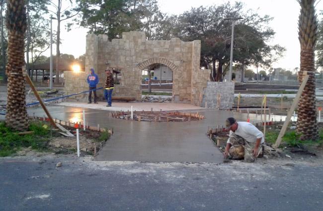 Progress at Holland Park: The North Portal. (Palm Coast)