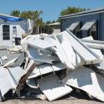Hurricane Irma's wreckage in Beverly Beach in 2017. (© FlaglerLive)