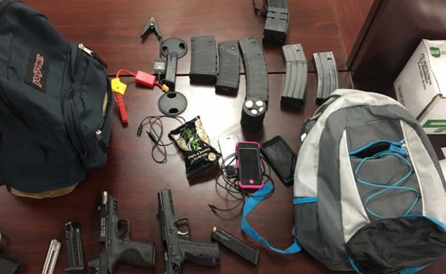Some of the weapons, ammunition and other items recovered from a garage theft on Postman Lane in Palm Coast. (FCSO)