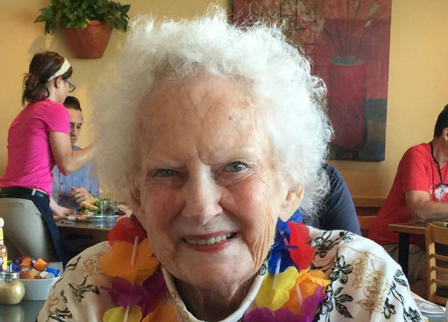 Jane Anne McNerney Staly when she turned 90. (Rick Staly)