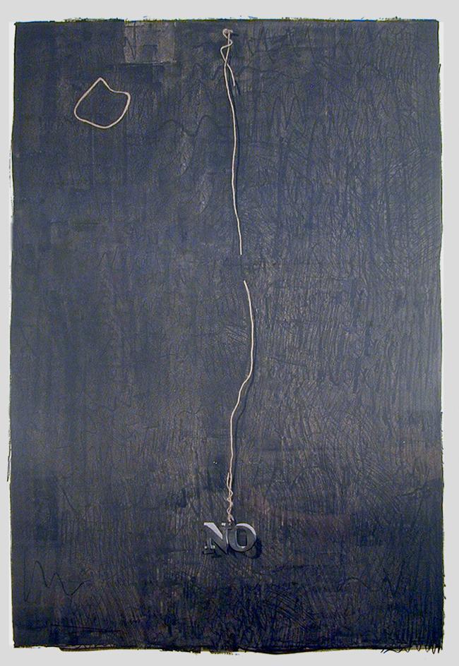 Jasper Johns's 'No' (1961)