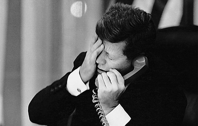 Sunday marks the 55th anniversary of the beginning of the Cuban missile crisis in 1962, when President Kennedy, above, demanded the removal of Soviet missiles from Cuba.