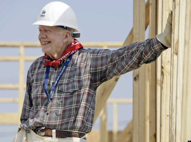What's always made America great: 'We once had a president who gave up his beloved peanut farm to avoid any conflict of interest & at 92 is still building houses for the poor,' writes Gabe Ortiz of Jimmy Carter.