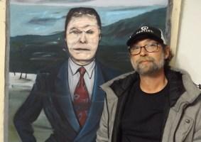 JJ Graham in front of a Schreiner. (© FlaglerLive)