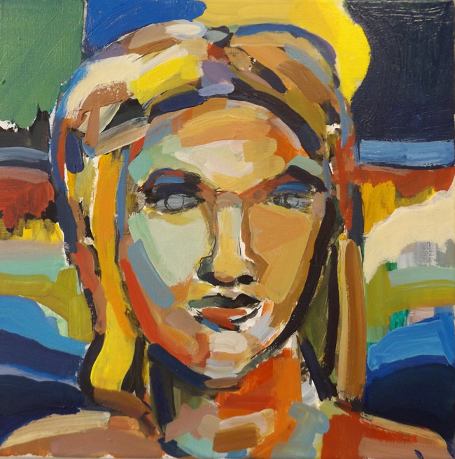 JJ Graham's 'Sunshine' is part of the 'Work' exhibit, opening Saturday and running through Aug. 8 at the Flagler County Art League in Palm Coast See below. (© FlaglerLive)