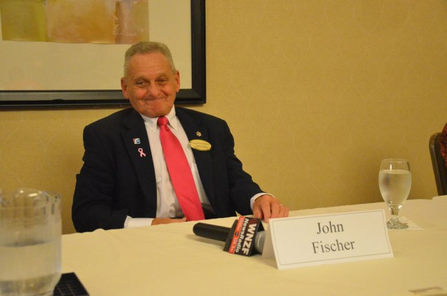 John Fischer during his 2014 run for re-election. (© FlaglerLive)