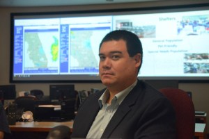Affable, aware and in control: Jonathan Lord, Flagler County's new emergency chief, brings vast state and local experience to the job. (© FlaglerLive)