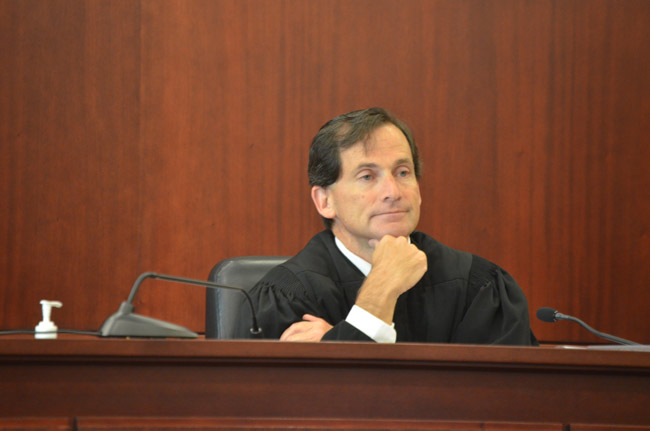 Judge Dennis Craig returns to Flagler County after two years in Volusia. Craig will be Flagler's criminal court judge, replacing Matthew Foxman, who's been reassigned to Volusia. See below. (© FlaglerLive)