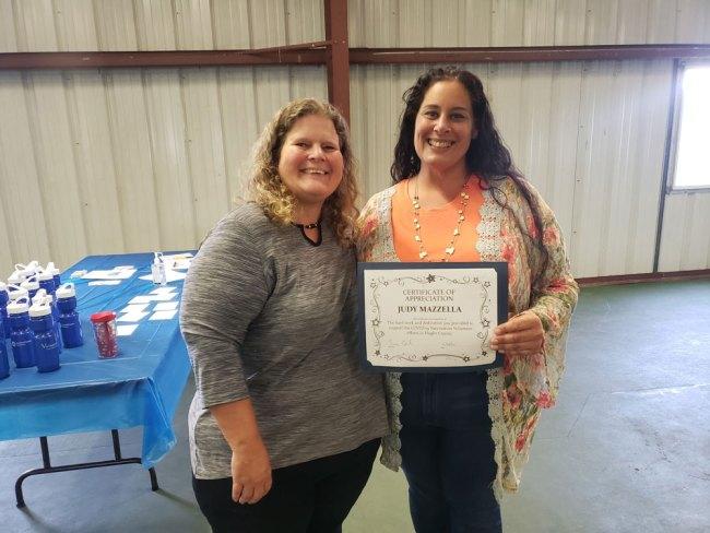 Suzy Gamblain and Judy Mazzella of Flagler Volunteer Services. (Flagler Health Department)
