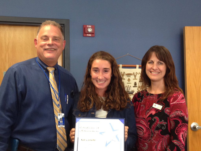 Kali Conville is Matanzas High School's August Senior of the Month. (MHS)