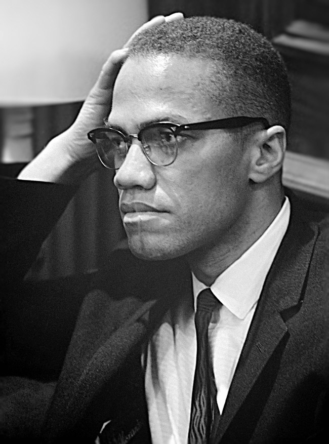 Malcolm X on March 26, 1964, less than a year before he was assassinated. (Marion S. Trikosko)