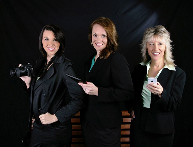 The power of Marketing 2 Go: from left, Brandi Fowler, Meredith Rodriguez, and Cindy Dalecki.