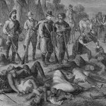 This 1868 illustration of a massacre by white Americans of Native Americans in Idaho would likely not make the cut of history classes under a new rule proposed by the Florida Department of Education.