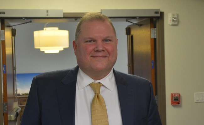 Matthew Morton is Palm Coast's new city manager. (c FlaglerLive)