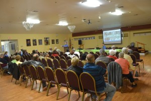 The meeting on Whiteview Parkway's proposed changes took place at the African American Cultural Society and drew just 36 people. (c FlaglerLive)