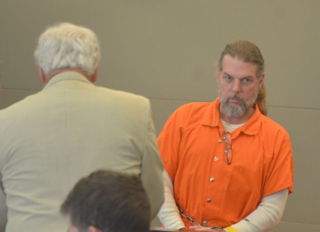 Michael Cummings in court today. (© FlaglerLive)