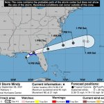 Tropical Storm Mindy's path through northeast Florida is expected to be swift.