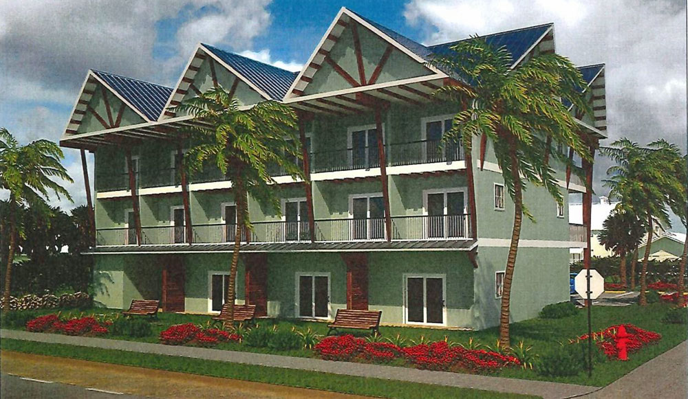A rendering of the proposed 12-room motel on State Road A1A, at South 13th Street, in Flagler Beach.