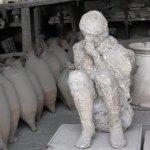 A plaster casting of a Pompeian citizen. (Jeremy Thompson)