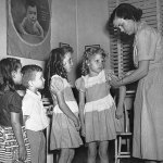 Children in Tallahassee getting the polio vaccine. (Leon County Health Department)