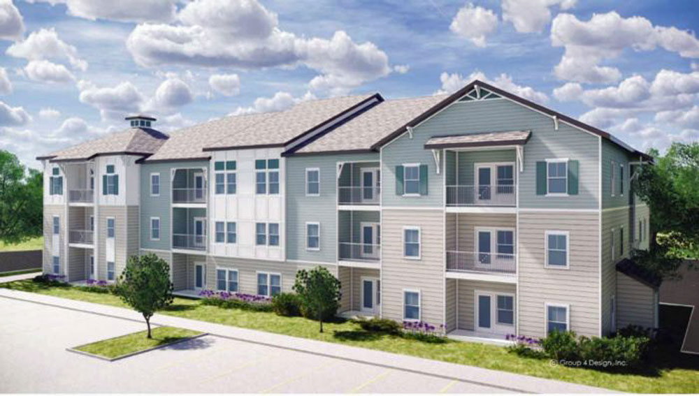 A rendering of the sort of apartments Piedmont Private Equity, the firm behind the 240-apartment complex planned for Roberts Road in Flagler Beach, builds, this one in Ridgeville, S.C. (Piedmont Private Equity)