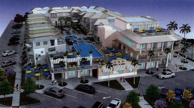 A different angle on the proposed hotel.