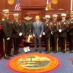 Rep. Paul Renner and the Palm Coast Fire Department's Honor Guard in the well of the Florida House. (Palm Coast)
