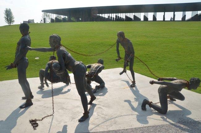 An Installation by Kwame Akoto-Bamfo. (© Pierre Tristam/FlaglerLive)