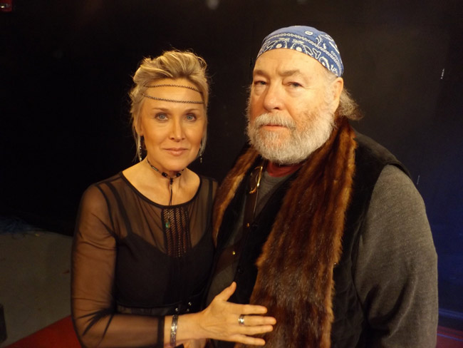 """Robert O. Dimsey is Macbeth and Sharon Resnikoff is Lady Macbeth in the City Repertory Theatre production of Shakespeare's """"Macbeth."""" The play will be staged Feb. 22-25 as a Shakespeare in the park production in conjunction with the Palm Coast Arts Foundation. FlaglerLive photo"""