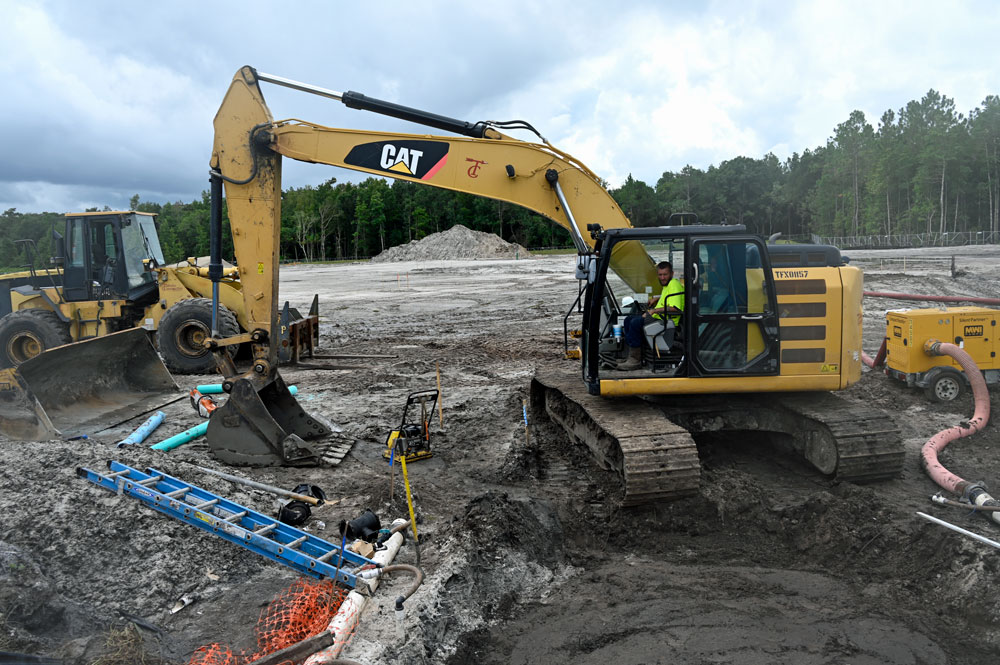 The 8.4-acre job site of the future Sheriff's Operations Center this afternoon. (© FlaglerLive)