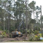 A single-family lot getting cleared for construction in Palm Coast this week. (© FlaglerLive)