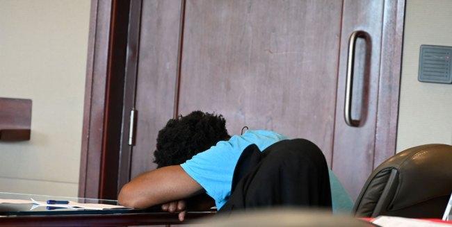 defendant sleeping