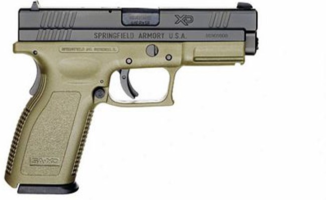 The .40-caliber Springfield similar to the one a student had shown at the Indian Trails Sports Complex.