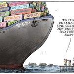GOP's Broken Supply Chain by Christopher Weyant, The Boston Globe.