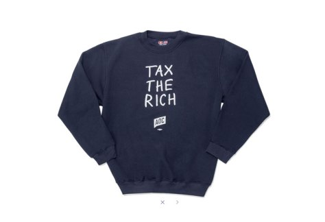 It's not just for galas: Rep. Alexandria Ocasio Cortez has a whole clothing line. That particular sweatshirt costs $58.